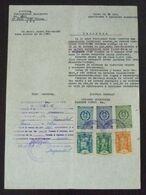 Yugoslavia 1958 Serbia Local PEC Revenue Fiscal Stamps On Document BD92 - Storia Postale