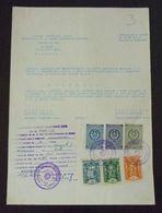 Yugoslavia 1959 Serbia Local PEC Revenue Fiscal Stamps On Document BD93 - Storia Postale