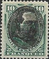 PERU  1894 Arms Overprinted With Pres. R. M. Bermudez Portrait - 10c. - Green MH - Peru