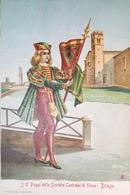 Cartolina -  I 17 Paggi Delle Storiche Contrade Di Siena - Drago - 1951 - Siena