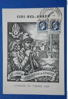 31 ALGERIE 1947 JOURNEE DU TIMBRE SIDI BEL ABBES CACHET SUR PAIRE - Algérie (1962-...)