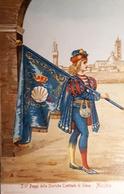 Cartolina -  I 17 Paggi Delle Storiche Contrade Di Siena - Nicchio - 1900 Ca. - Siena