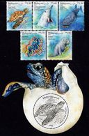 Malaysia - 2020 - Iconic Marine Life - Mint Stamp Set + Souvenir Sheet With Varnish - Malaysia (1964-...)