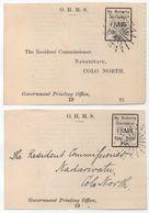 FIDJI - FIJI - NADARIVATU / 1900's - 2 DEVANTS DE LETTRE ANCIENS EN FRANCHISE (ref 439a) - Fidji (...-1970)