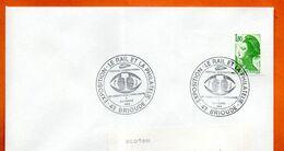43 BRIOUDE  LE RAIL ET LA PHILATELIE  1986 Lettre Entière N° ST 828 - Gedenkstempels