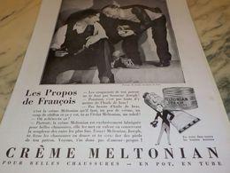 ANCIENNE PUBLICITE CREME MELTONIAN POUR BELLE CHAUSSURES 1930 - Altri