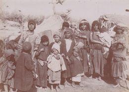 """Photographie Originale  AV 1900 Tunisie Région Kroumirie  """" Jeunes Enfants Et Adolescents Kroumir"""" Ref  20/803 - Tunesien"""