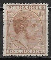 Cuba 1881. Scott #98 (M) King Alfonso XII - Cuba (1874-1898)