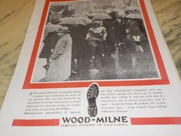 ANCIENNE PUBLICITE CONTRE L HUMIDITE SEMELLE WOOD-MILNE  1930 - Altri