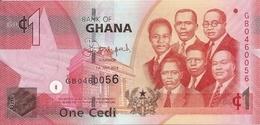 GHANA 1 CEDI 2014 UNC P 37 E - Ghana