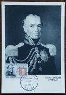 CM 1961 - YT N°1298 - GENERAL DROUOT - NANCY - Cartas Máxima