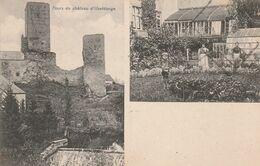 CPA:LUXEMBOURG USELDANGE TOURS DU CHÂTEAU ,TROIS PERSONNES DANS JARDIN..ÉCRITE - Cartes Postales