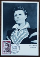 CM 1961 - YT N°1305 - GERARD PHILIPE - CANNES - Cartas Máxima