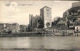 Huy - La Collégiale Et Le Fort (Préaux, Anciennes Maisons) - Huy