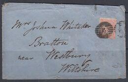 GB 4d Orange Plate 8 On 1869 Cover - Storia Postale