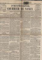 Journal L'espérance Courrier De Nancy 14 6 1871 YT France 25 X2 + 27 GC 2598 Nancy Articles Intéressants Siège Metz ... - Kranten
