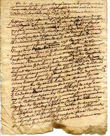 07.ARDECHE.LA BASTIDE DE VIRAC.DOCUMENT DE 1792 A DECHIFFRER. - Old Paper