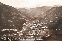 Cartolina - Varallo Sesia - Panorama Sfondo Catena M. Rosa - 1960 Ca. - Vercelli