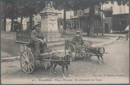 Vendome , Place D'armes , Voiture à Chiens , En Attendant Les Taxis , Animée - Vendome