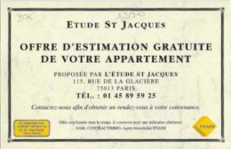 D75 - PARIS 13e -PUBLICITE : ETUDE ST JACQUES-Reproduction TOUT PARIS LE LION DE BELFORT (Voir Scan) - Arrondissement: 13