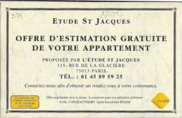 D75 - PARIS 13e -PUBLICITE : ETUDE ST JACQUES-Reproduction LE PARC MONTSOURIS-LES BORDS DU LAC - (Voir Scan) - Arrondissement: 13