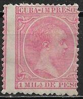 Cuba 1894. Scott #P20 (M) King Alfonso XIII, Newspaper Stamp - Cuba (1874-1898)