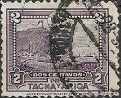 PERU 1928 Obligatory Tax. Plebiscite Fund - 2c The Rock Of Arica FU - Peru