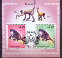 GUINEA BISSAU - FAUNA - MONKEYS - MI.NO.BL 866 - CV = 12 € - Monkeys