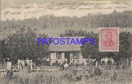 139483 PARAGUAY COLONY HOHENAU CASA DRL COLONO COSTUMES FAMILY YEAR 1911 POSTAL POSTCARD - Paraguay