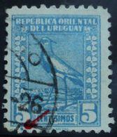 1925 URUGUAY Used VARIETY VARIETE- Blue Dot Below - Bird Tero Teru Pajaro Ave Oiseau Vogel -  Yvert 314 - Uruguay