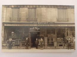 CPA PHOTO COMMERCE MEUBLES, MAISON GOFFART, SCHOLZ, 75, RUE ST LAZARE PLACE TRINITÉ, PARIS - Trade