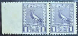 1927 URUGUAY Mnh VARIETY VARIETE- PAR Imperforated Left Edge - Bird Tero Teru Pajaro Ave Oiseau Vogel -  Yvert 334g - Uruguay