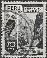 PERU 1938 Air.  Infiernillo Canyon - 70c - Grey FU - Peru