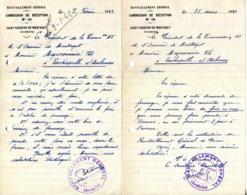 07.ARDECHE.SAINT SAUVEUR DE MONTAGUT.2 LETTRES DU RAVITAILLEMENT GENERAL.1942.(P.J) - Old Paper