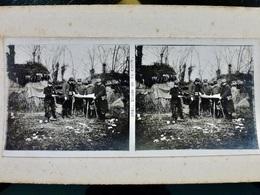 Photo STEREO Ww1 WwII 1914 1918 : Etude De La Carte _ POILUS _ N°2681 - War, Military