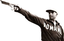 TIR / SHOOTING : GH. LICHIARDOPOL / ROMANIA - BRONZE MEDAL : HELSINKI OLYMPICS 1952 ... - REAL PHOTO POSTCARD (af309) - Tir (Armes)