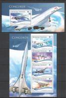 TG164 2015 TOGO TOGOLAISE TRANSPORT AVIATION CONCORDE KB+BL MNH - Concorde