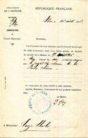 07.ARDECHE.SAINT PONS.CONVOCATION DU CONSEIL MUNICIPAL.1906.(P.J) - Old Paper