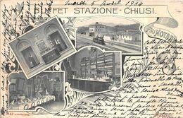 ¤¤    -   ITALIE  -  Buffet Stazione   -  CHIUSI  -  Chemin De Fer   -  Carte Décollée   -  ¤¤ - Siena