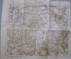 Carte Du S.G.A. : Anvers - 1/300 000ème - Début XXème. - Carte Stradali