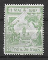 Deutsches Reich 8 Stunden Tag 1 Mai 1897 Spendenmarke Cinderella Vignet Werbemarke Propaganda - Ohne Zuordnung