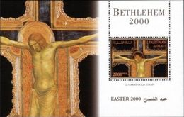 PALESTINIAN AUTHORITY PALESTINE EASTER 2000 S/s  Michel №  15, MNH/** - Religión