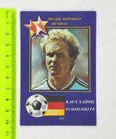 USSR Deutschland Football Calendar Karl-Heinz Rummenigge 1990 - Apparel, Souvenirs & Other