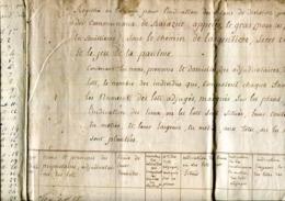 07.ARDECHE.BALAZUC.CAHIER ADJUDICATION DE BOIS COMMUNAUX.1798.(P.J) - Old Paper