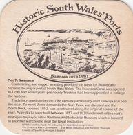 BEERMAT - BRAINS BREWERY  (CARDIFF, WALES) - SWANSEA CIRCA 1850 - (Cat No 085) - (1981) - Sous-bocks