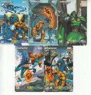 5 X Thailand Phonecard 12Call - Fantastic Four - Thaïland
