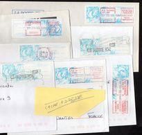 NOUVELLE-CALEDONIE  Lot 7 Enveloppe Cover Vignette Affranchissement - Lettres & Documents