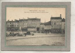 CPA -(01) PONT-de-VAUX -Aspect Du Café Des Négociants Et Du Café Du Commerce De La Place Joubert - 1919 - Pont-de-Vaux