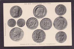 CPA Sur La Carte Postale Cartophile Club Monnaies Satiriques Coins Non Circulé - Monete (rappresentazioni)