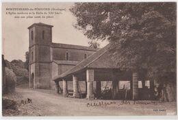 CPA : Montferrand Du Périgord (24) L'Eglise Moderne Et La Halle Provisoirement Cuisine Militaire   Ed Gouby Rare - France
